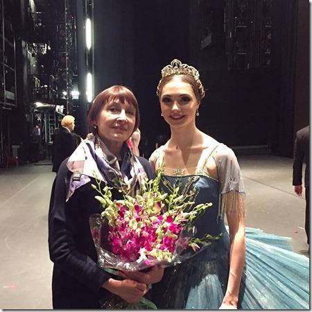 Алена Ковалева со своим педагогом