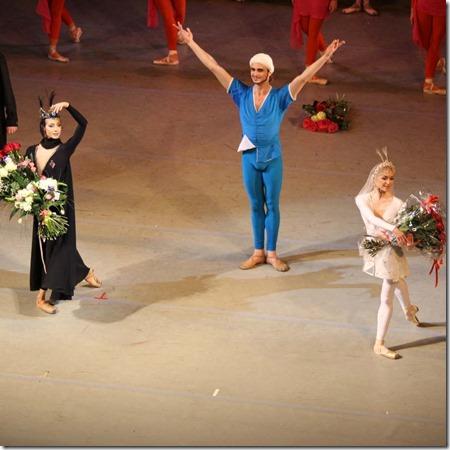 Екатерина Кондаурова, Андрей Ермаков и Елене Евсеева в балете Легенда о любви