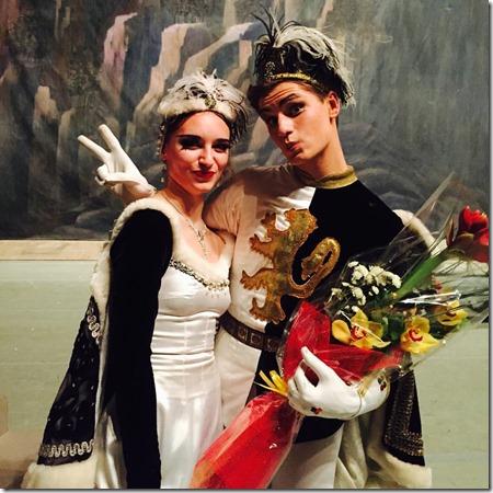 Алиса Русина и Роман Малышев танцевавшие Мазурку в Раймонде