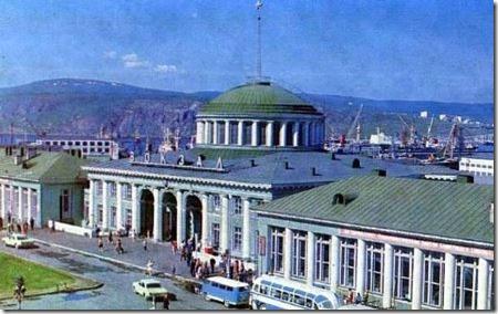 старое фото вокзала в Мурманске