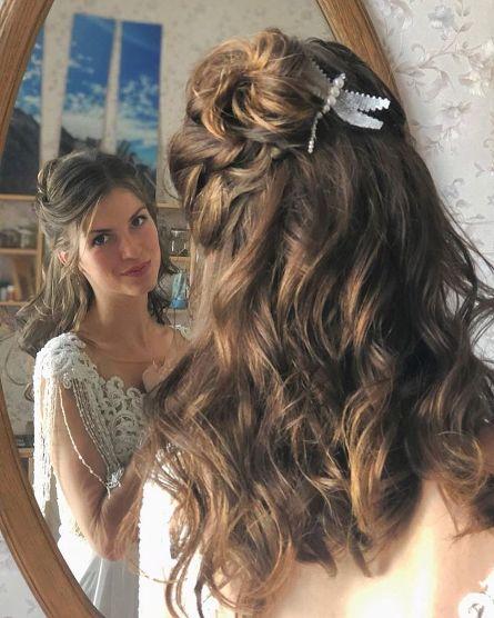 Свадебная прическа Ники Цхвитария